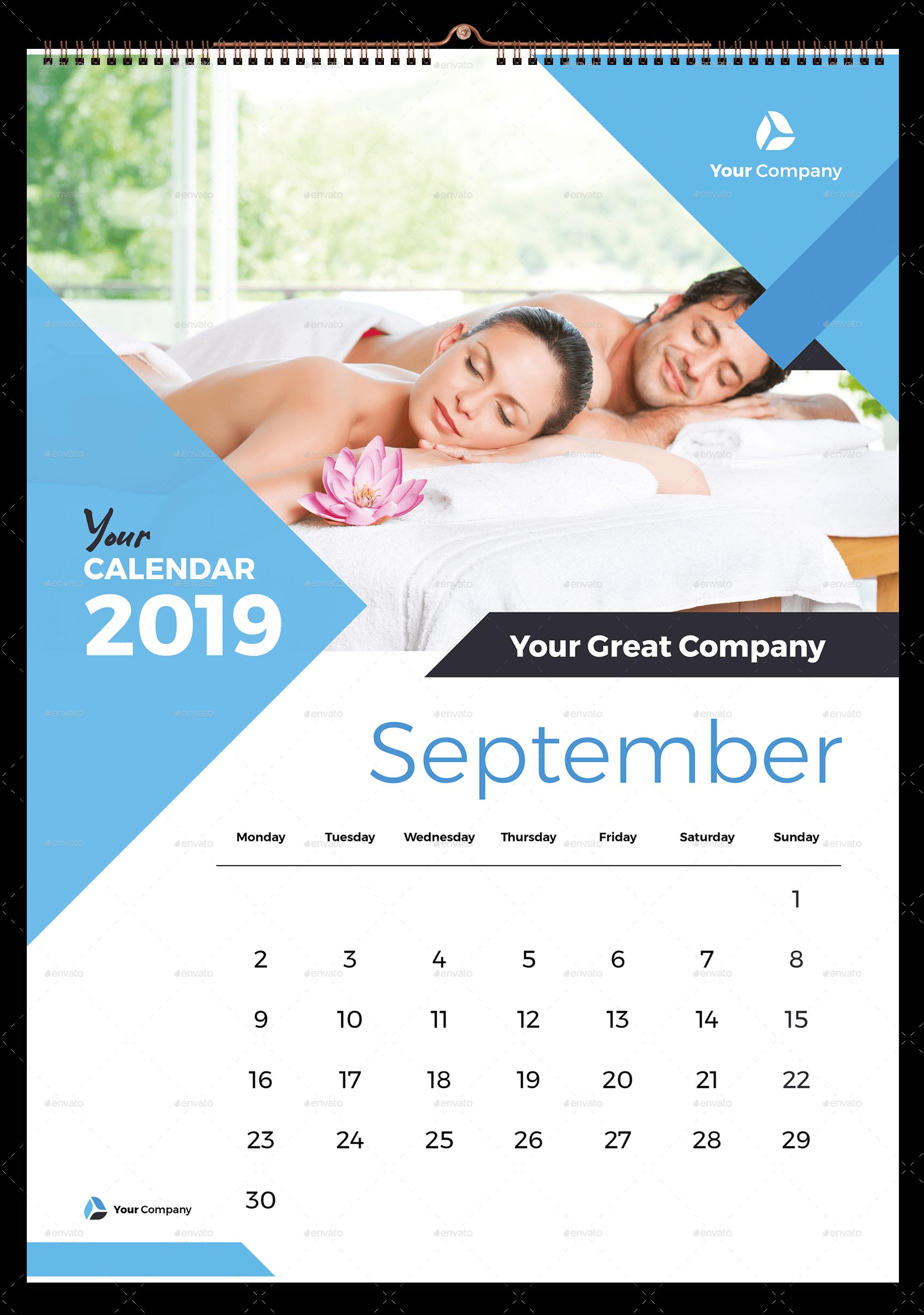 Wall Calendar 2019 Desain