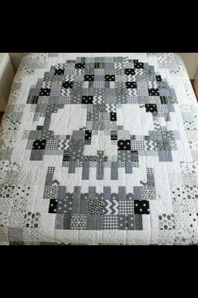 tell me who made this so I can give credit | Sugar Skulls ... : sugar skull quilt pattern - Adamdwight.com