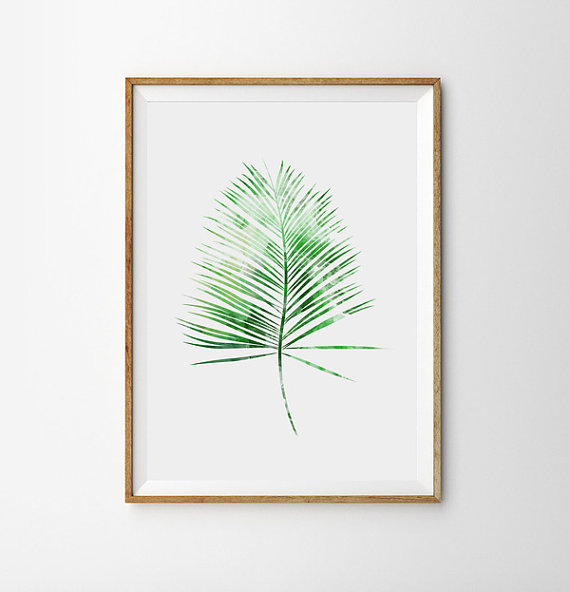 green fern poster spring garden botanical prints fresh. Black Bedroom Furniture Sets. Home Design Ideas