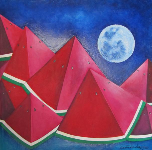"""Germanieto, """"Sandial y el Conejo de la Luna""""  #SalóndelaPlásticaMexicana, Contemporary Art"""