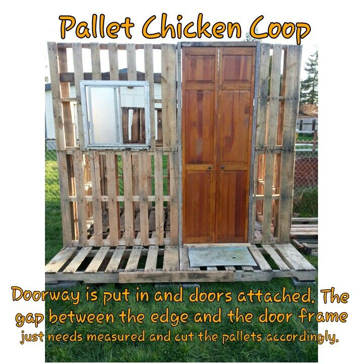 Pallet Chicken Coop Put Whatever Kind Of Door You Choose To Use In The Door  Frame