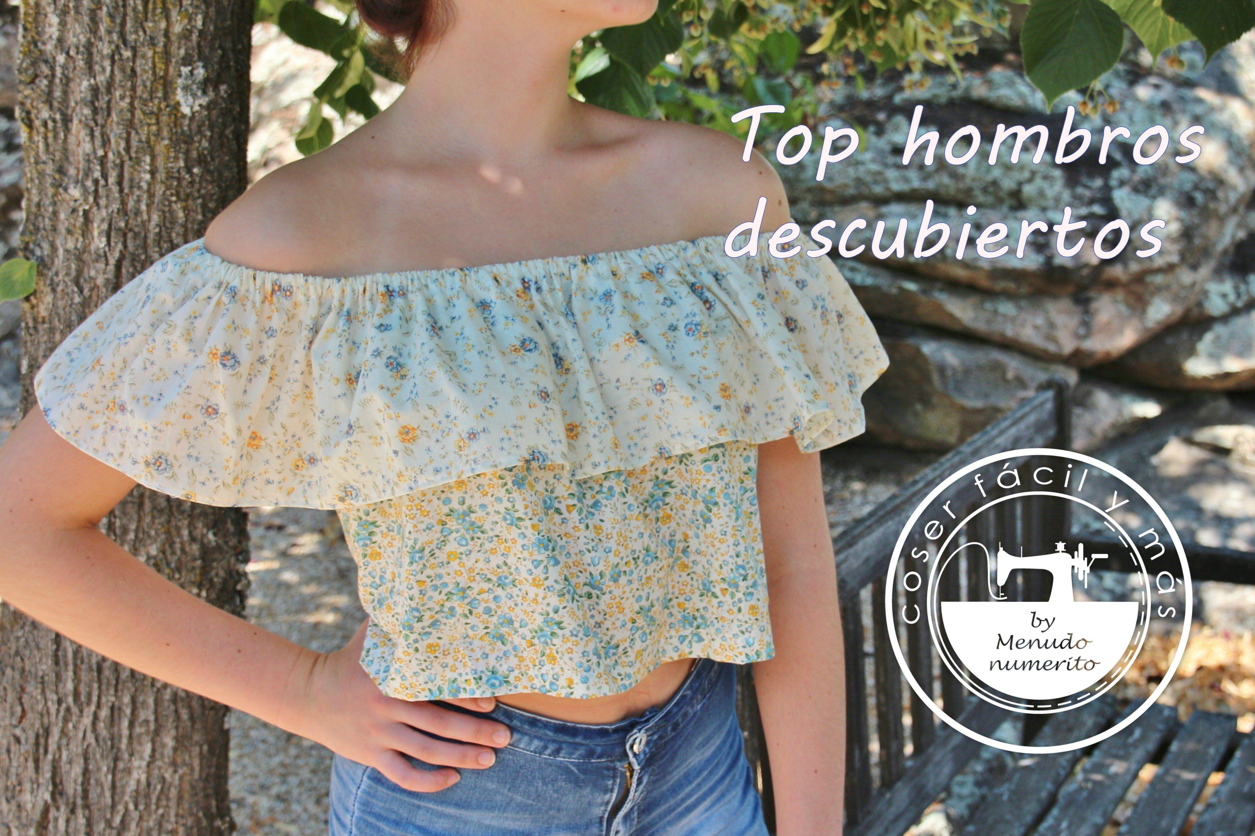 Cómo hacer un top o blusa sin hombros. Como sacar el patrón ... 151b6302ad1c