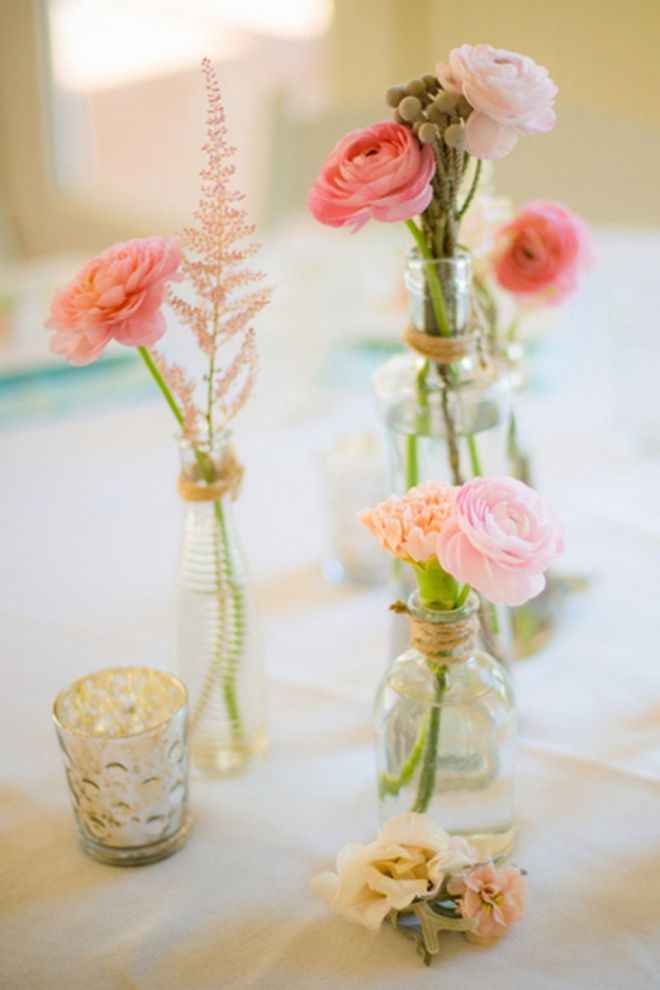 Simple Rose Garden: Must See, Mint And Pink DIY Beach Wedding!