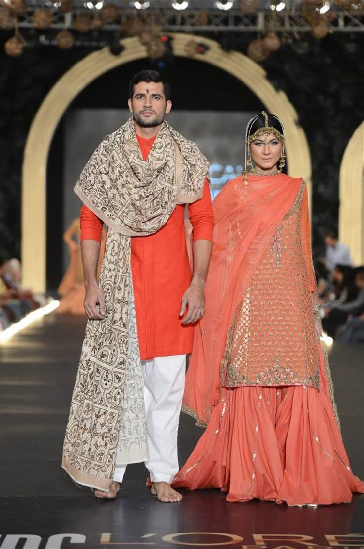 3aa94b370b Fahad Hussayn - Pakistan Bridal Week 2013 lurve the outfit on the girl