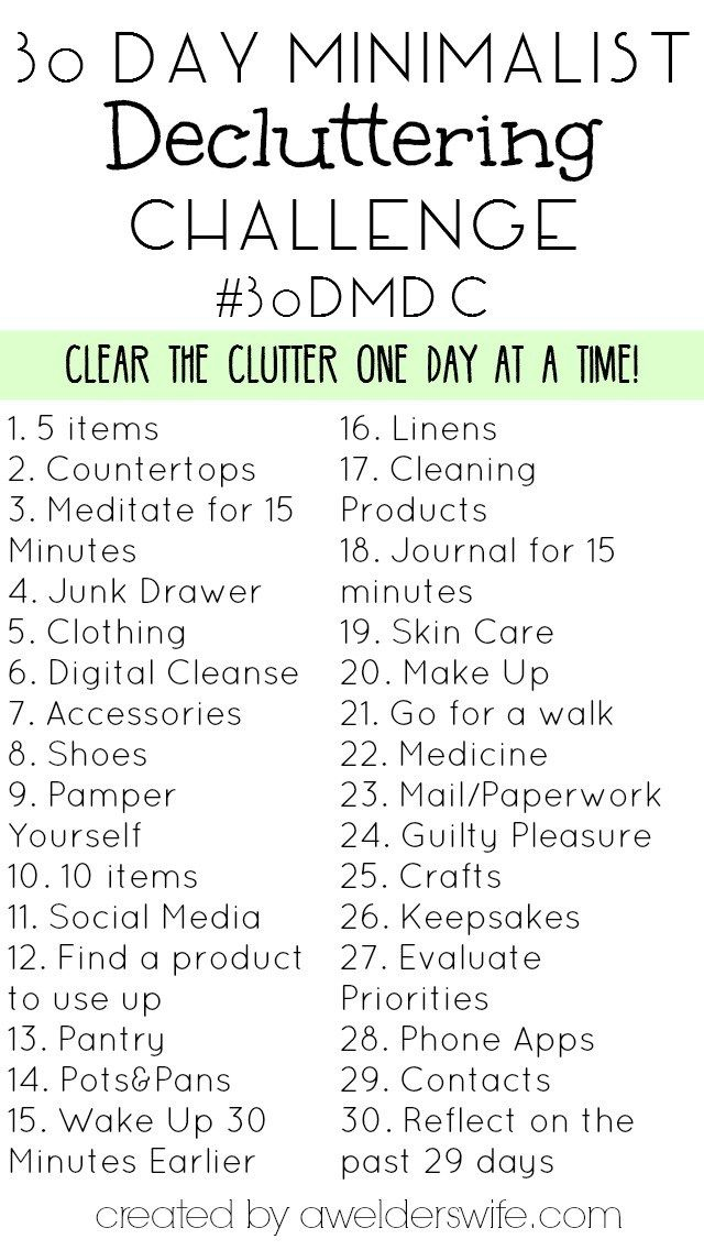 Minimalist Declutter Challenge: 30 Days to Declutter Your Home