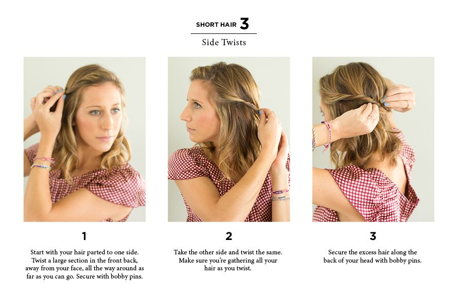 10 Easy Ways To Style Hair The Everygirl Short Hair Styles Easy Long To Short Hair Easy Hairstyles