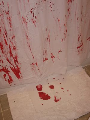 What You Make it...: Day 25 of 31 Day Spooktacular- Bloody Shower Curtain