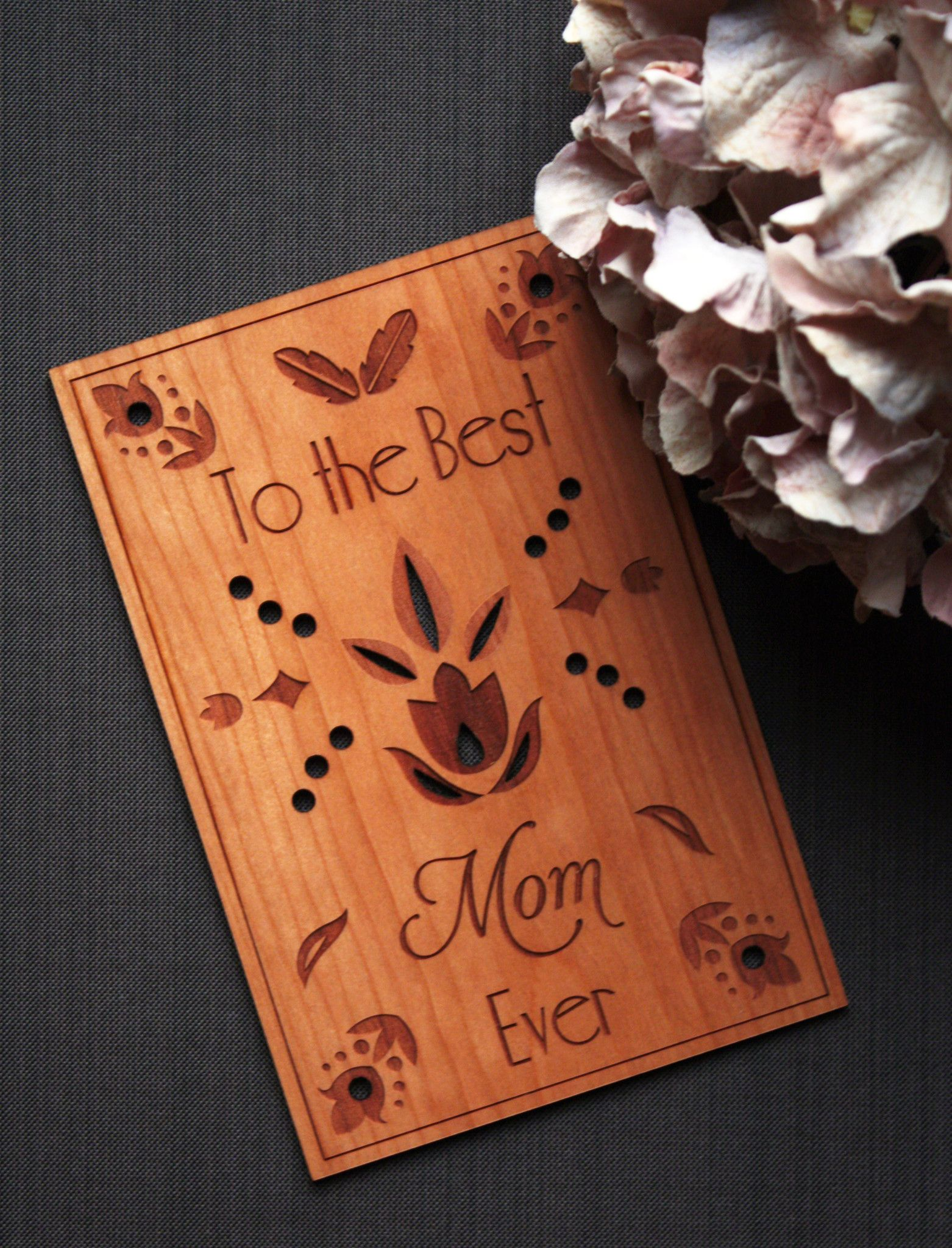 Mother's Day Card - Happy Mothers Day Gifts - Wooden Cards by Tri ...