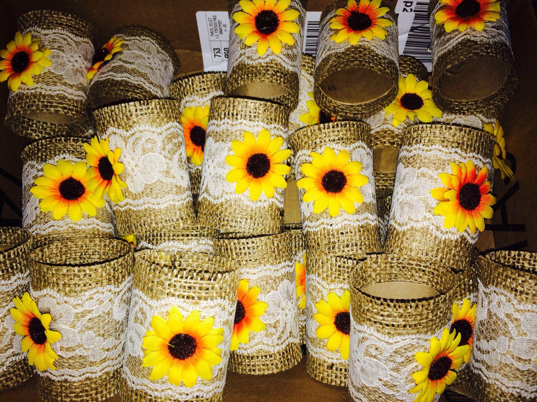 Sunflower Napkin Rings (Made From Tp Rolls)