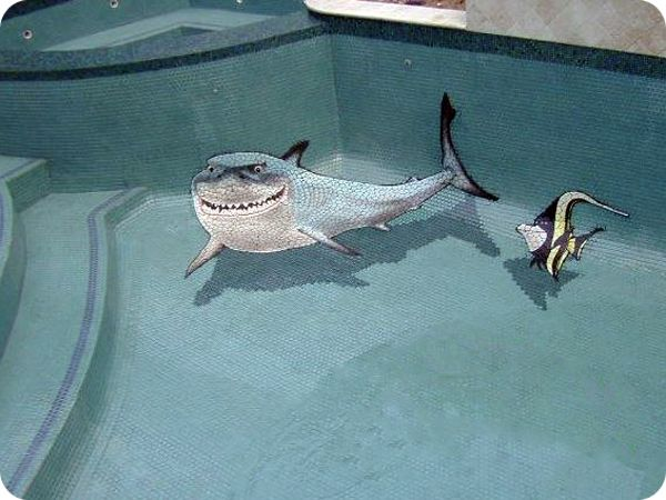 The Shark From Film Nemo Ceramic Tile Art