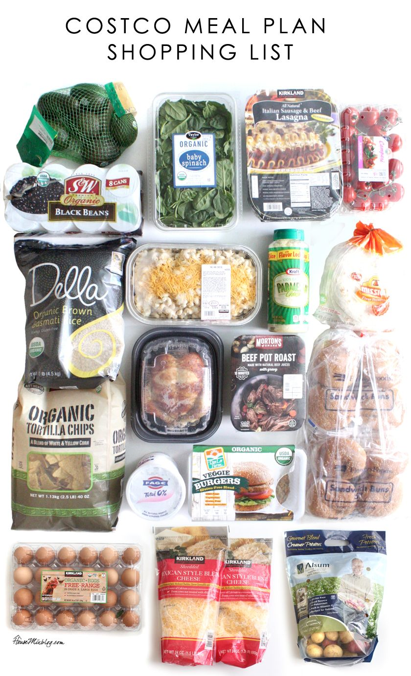 Lazy Girl S Costco Meal Plan For 2 Weeks With Images Costco