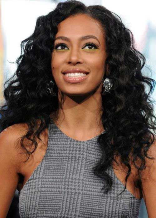 20 Curly Weave Hairstyles Solange Knowles And Alan Ferguson