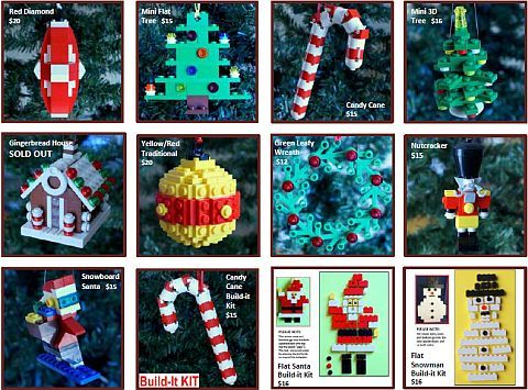 ornaments4charity lego christmas ornaments make it ho ho. Black Bedroom Furniture Sets. Home Design Ideas