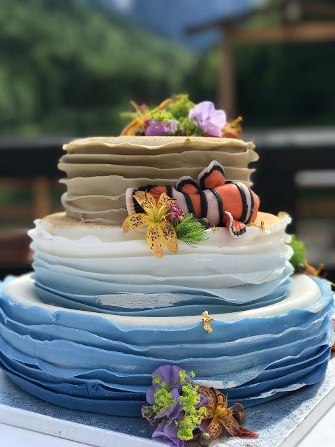 Findet Nemo Hochzeitstorte Ruffle Shadow Cake Exotisch Heiraten