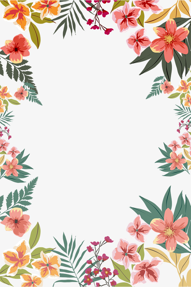 Pin Oleh Dddjjj Di Flower Boarder Pola Bunga Bingkai Bunga Kreatif