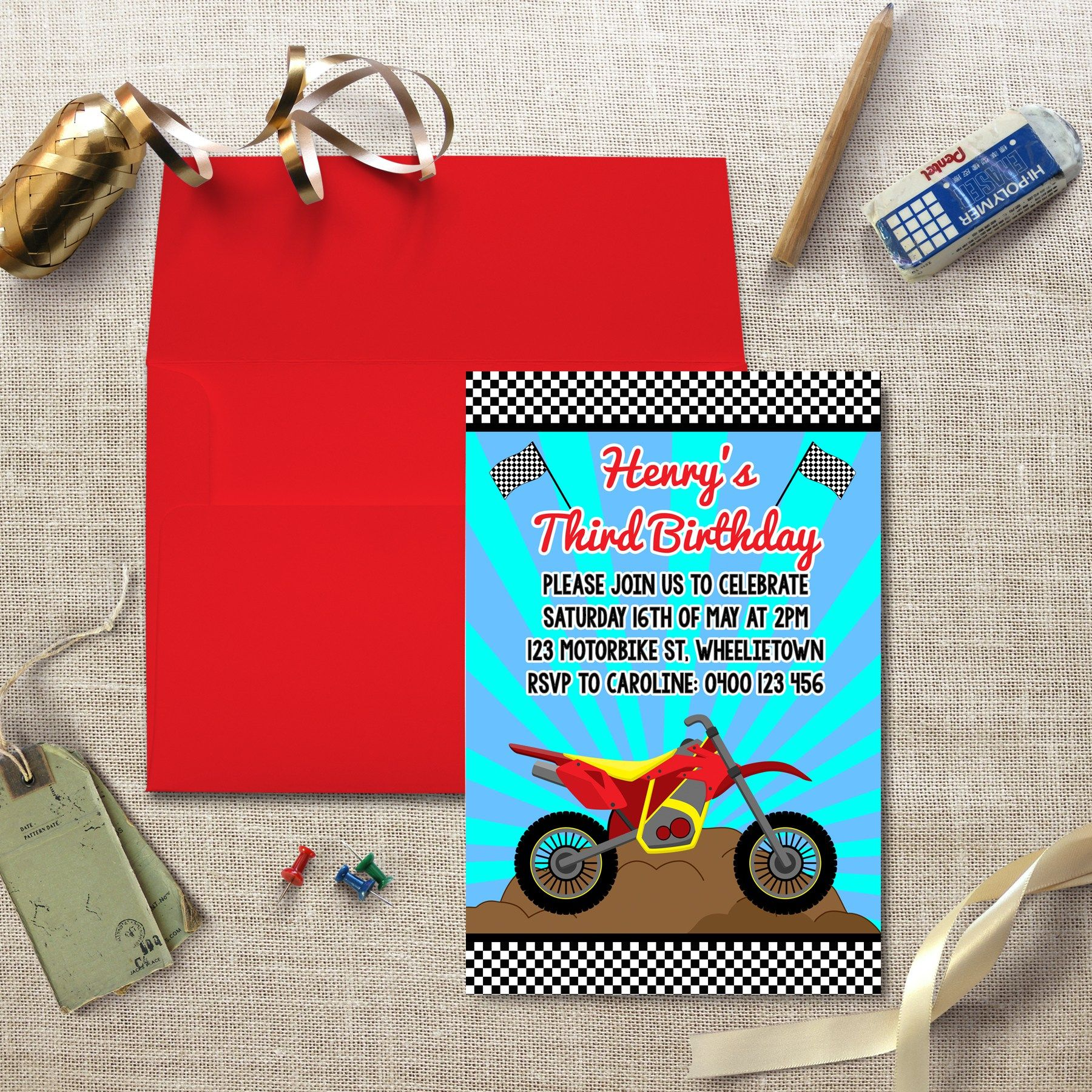 Motorcycle Invitation | Pinterest | Party invitations, Motorcycle ...