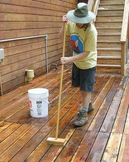 Wood Deck Cleaning With Sodium Percarbonate Deck Cleaning