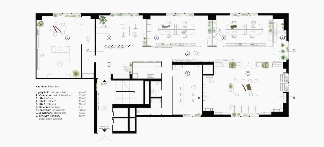 Elissa Stampa Fashion Design Office Slasharchitects Office Design Floor Plan Design Office Floor Plan