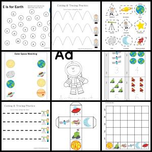 Space Printable Pack For Preschoolers Life Is Peachy Space Theme Preschool Space Preschool Space Activities