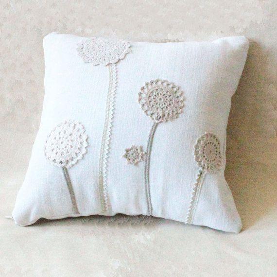 Funda de almohada funda de almohada 40x40 prados flores presión-motivo con flores de primavera