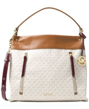 a4af4070f13a Michael Michael Kors Lex Large Hobo - White | Products | Michael ...