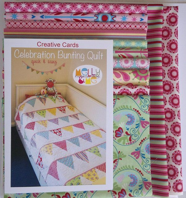 Celebration Bunting Quilt KIT -by Melly %26 Me - Quilt ... : patch it to me quilt - Adamdwight.com