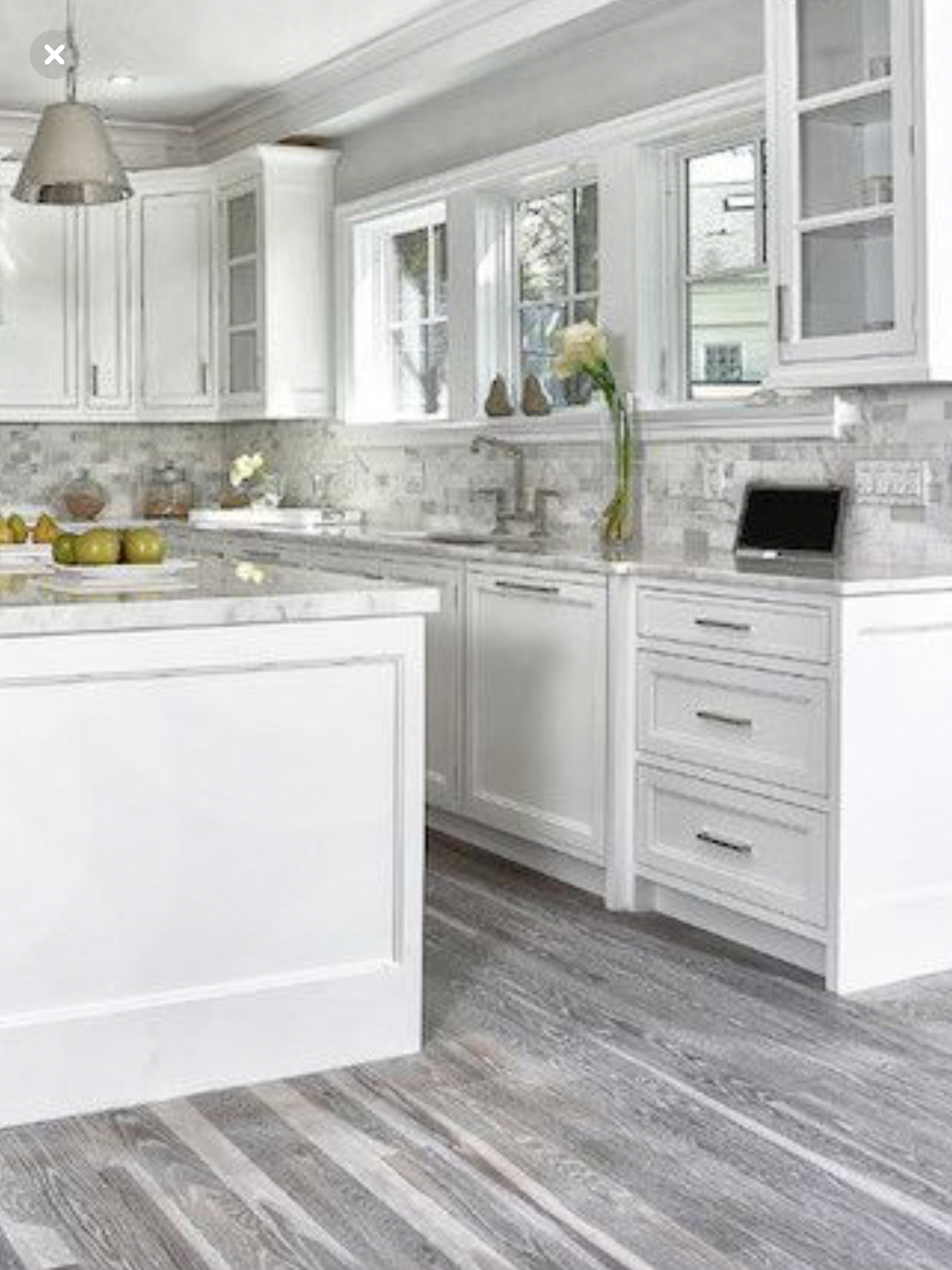 My Friends Gorgeous Gray And White Kitchen Cuckoo4design Light Grey Kitchens White Kitchen Design Rustic Kitchen Cabinets