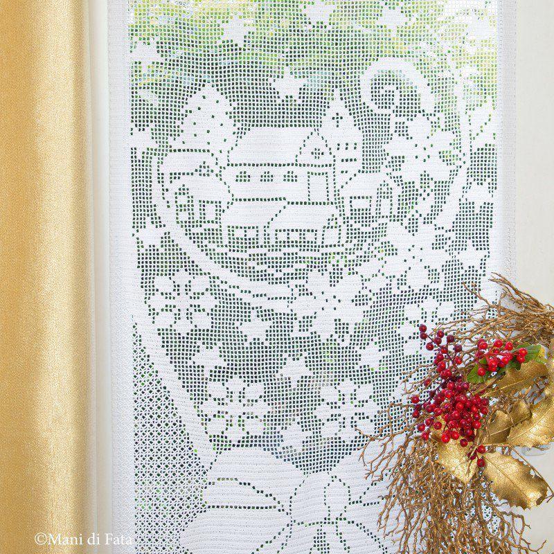 Occorrente Per Fare La Tenda Di Natale A Uncinetto Filet Boże