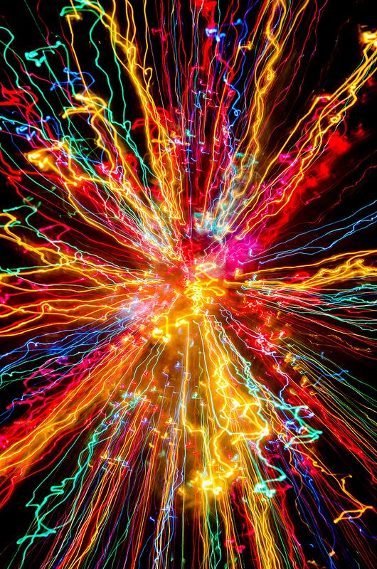 Christmas Tree Color Zoom Fractal art, Color, Color of life