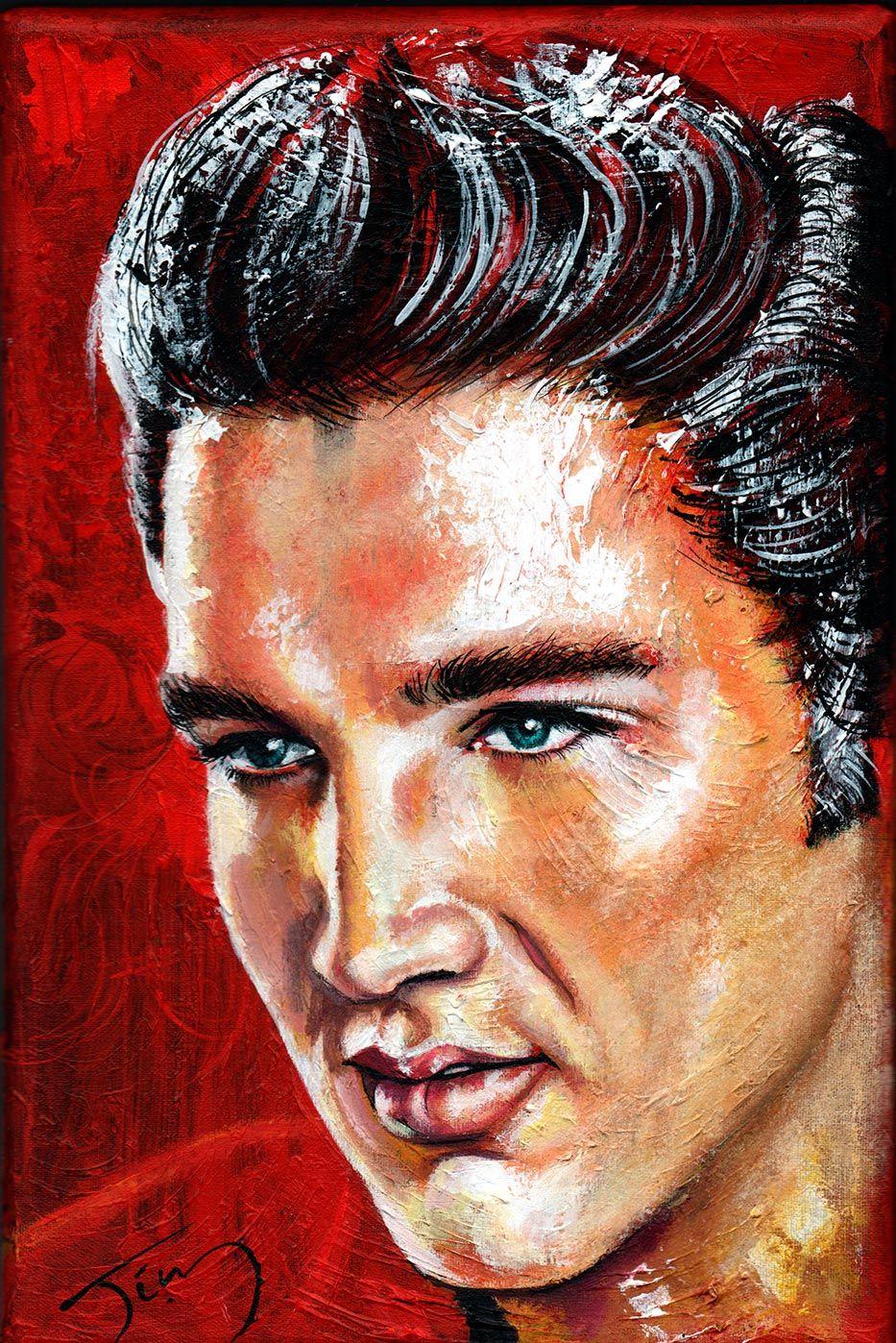Elvis Presley Portrait  Canvas Wall Art Picture Print ~ VARIOUS SIZES