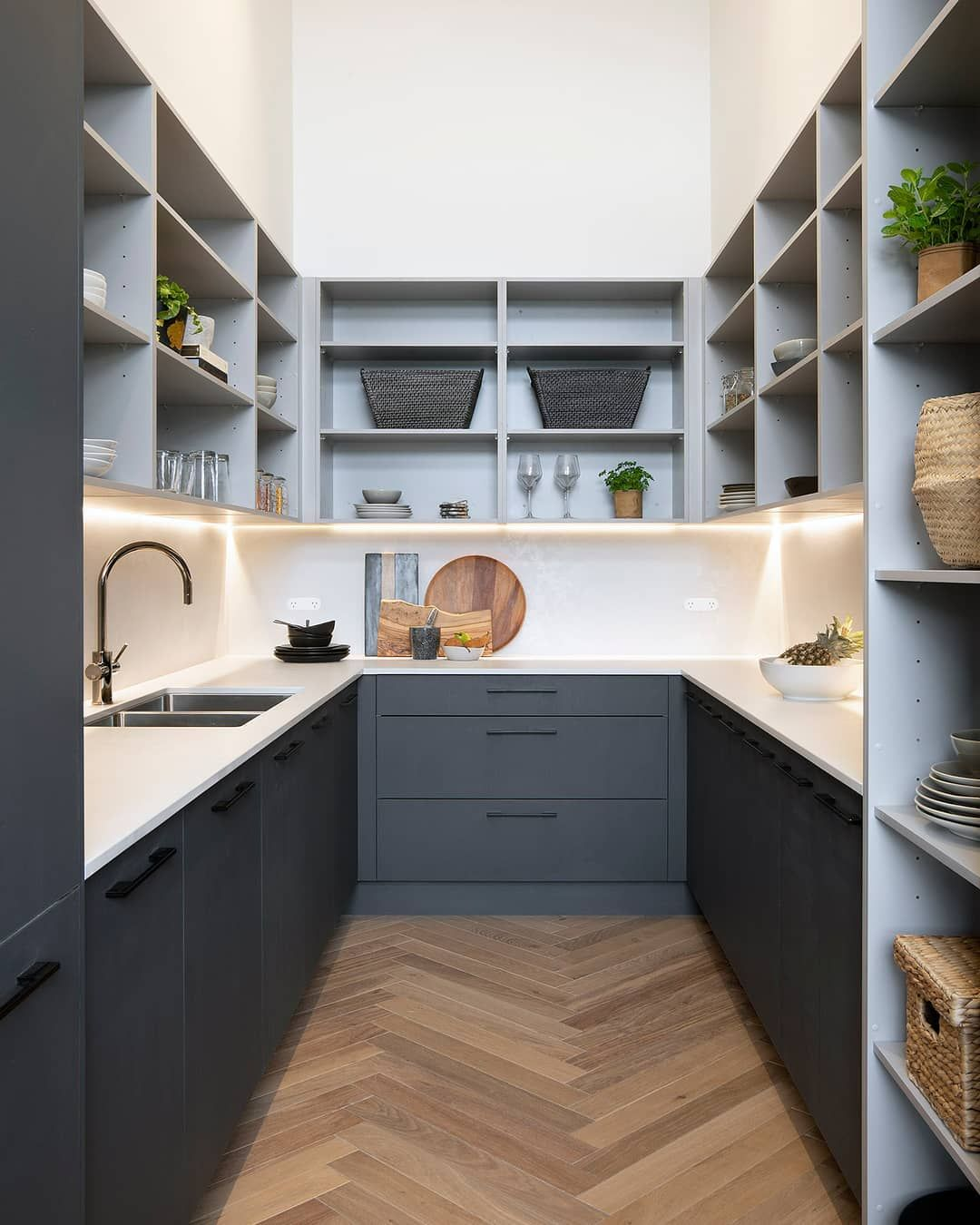 Freedom Kitchens On Instagram If You Re Lucky Enough To Have The Space For One A Bu Kitchen Inspiration Design Interior Design Kitchen Kitchen Pantry Design
