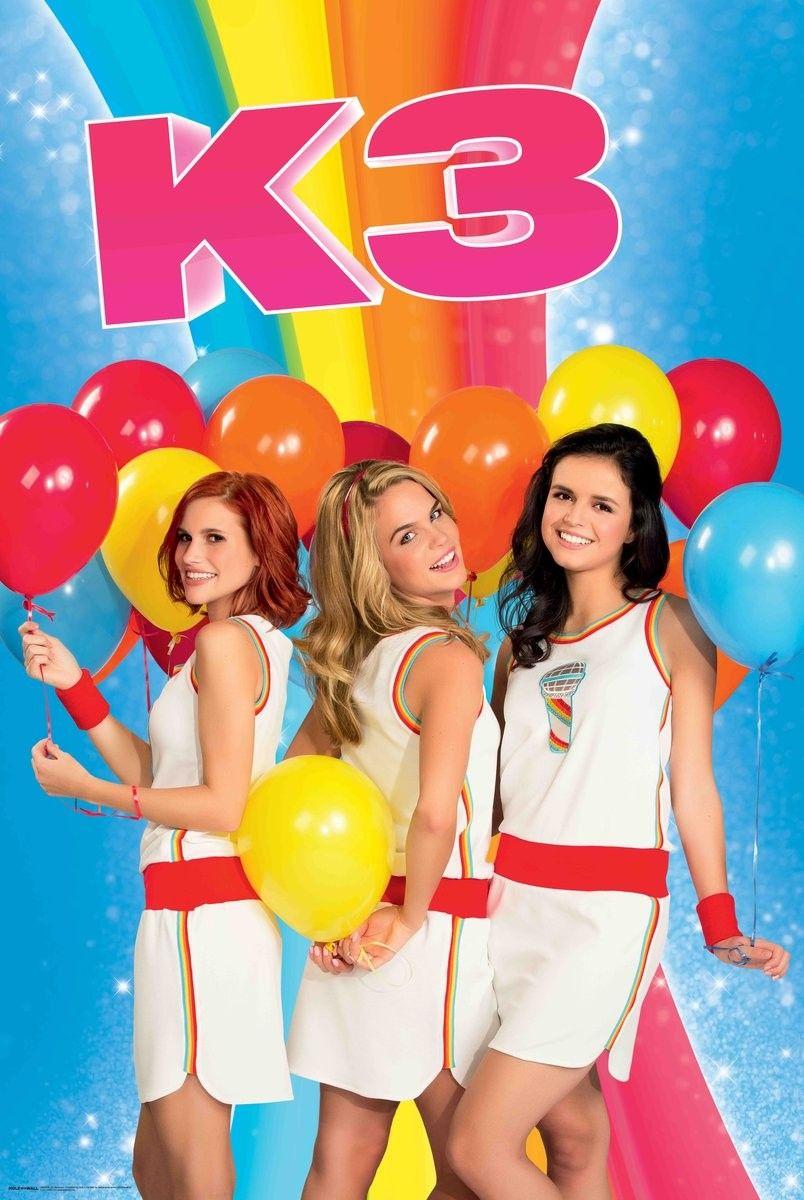 Muurstickers Kinderkamer K3.Poster K3 61x92 Cm Ballonnen Thema Muurstickers En Speelkleden