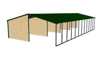 Full Metal Loafing Shed Shelters Metal Building Prices
