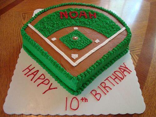 Baseball Field Cake Baseball field cake Baseball field and Fields