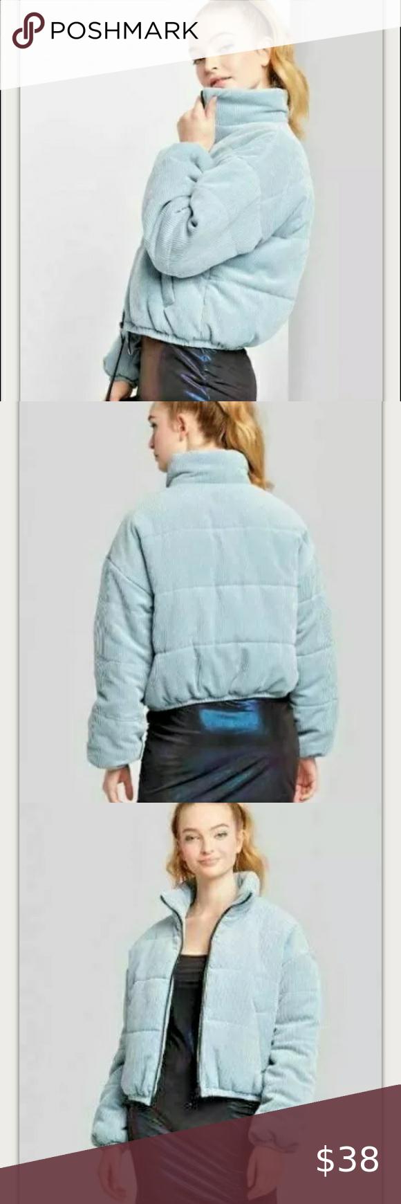 Wild Fable Jacket Corduroy Zip Up Puffer Blue Xl Puffer Jacket Women Jackets Zip Ups [ 1740 x 580 Pixel ]
