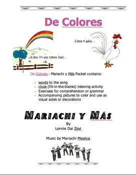 de colores mariachi music mp3 worksheets and pictures and to learn spanish quality spanish. Black Bedroom Furniture Sets. Home Design Ideas