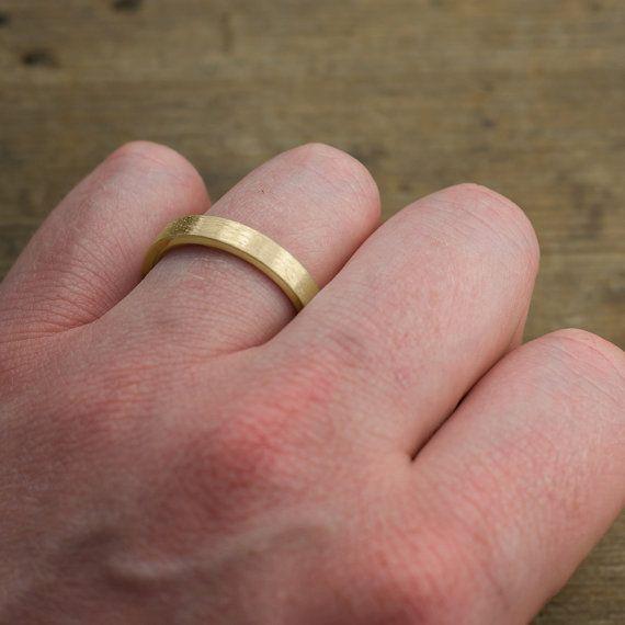 4mm 14k Yellow Gold Mens Wedding Ring Brushed Matte Etsy Mens Yellow Gold Wedding Bands Yellow Gold Mens Wedding Ring Mens Gold Wedding Band