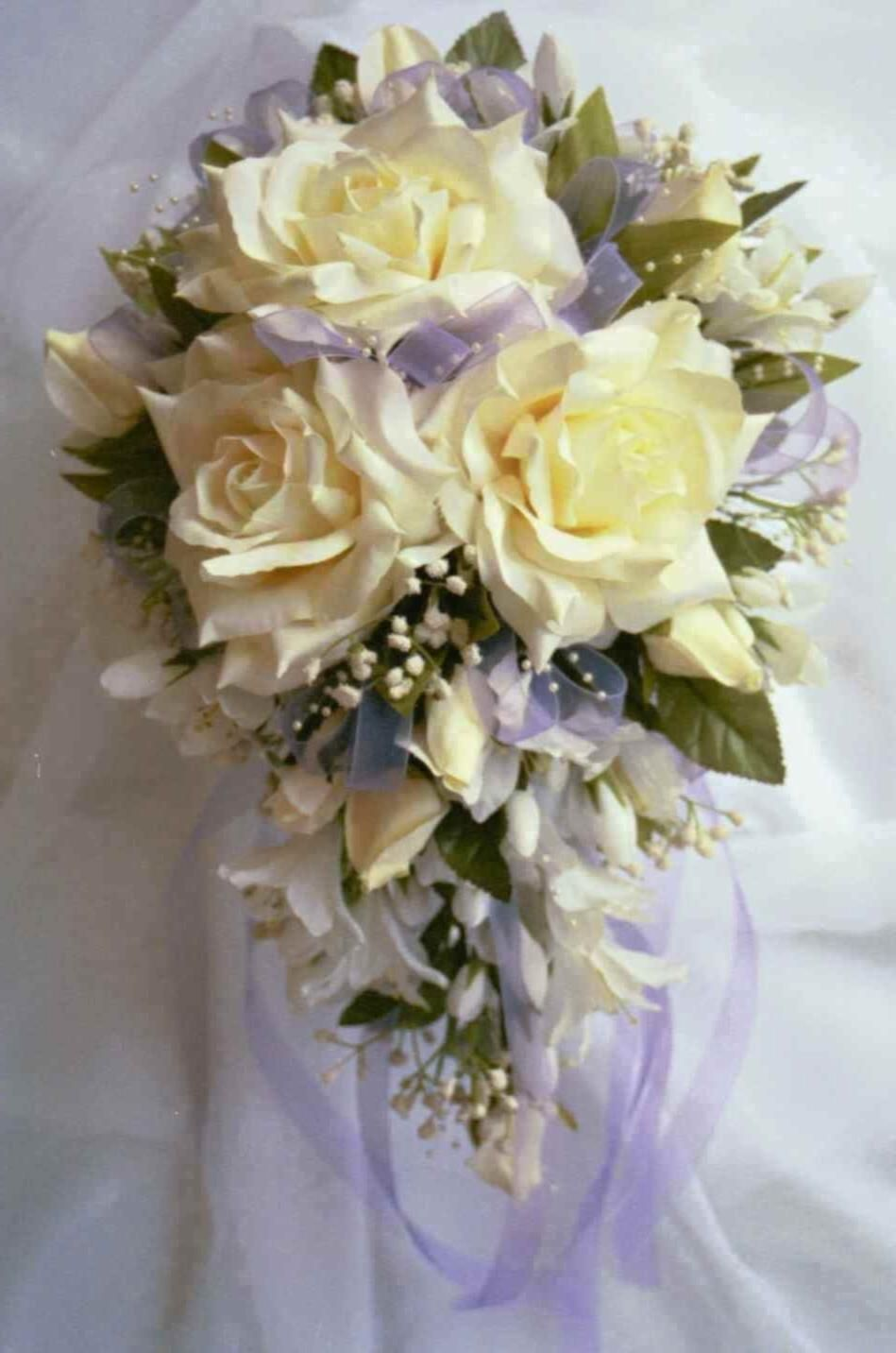 Cascading wedding bouquet silk this is small and