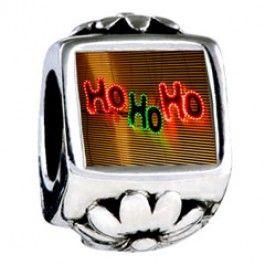 Ho Ho Ho Christmas Lights Photo Flower Charms  Fit pandora,trollbeads,chamilia,biagi,soufeel and any customized bracelet/necklaces. #Jewelry #Fashion #Silver# handcraft #DIY #Accessory