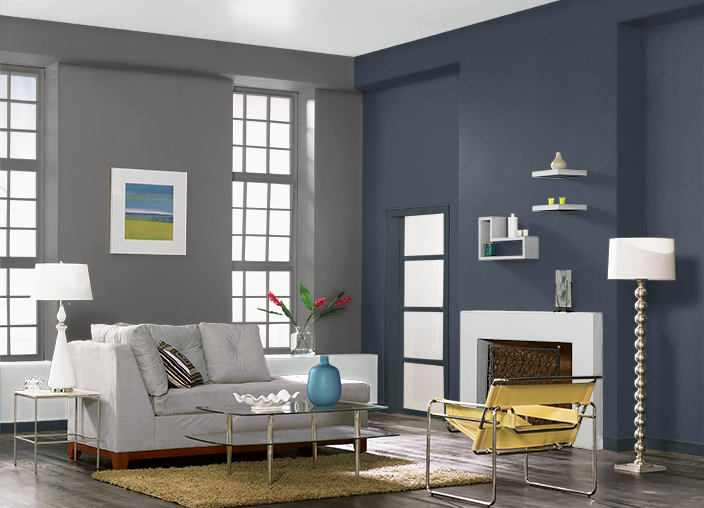 This Is The Project I Created On Behr Com I Used These Colors Dark Granite 780f 6 Sorcerer 760f 7 Midnight Dream 5 Living Room Paint Room Behr Paint Colors
