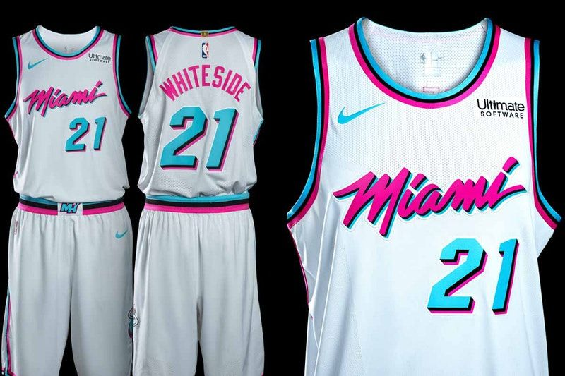 timeless design 1d4a6 a469e The Heat Unveil Their 'Miami Vice'-Inspired