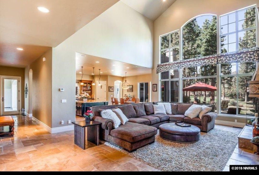 Beautiful Living Room Large Windows Beautiful Living R
