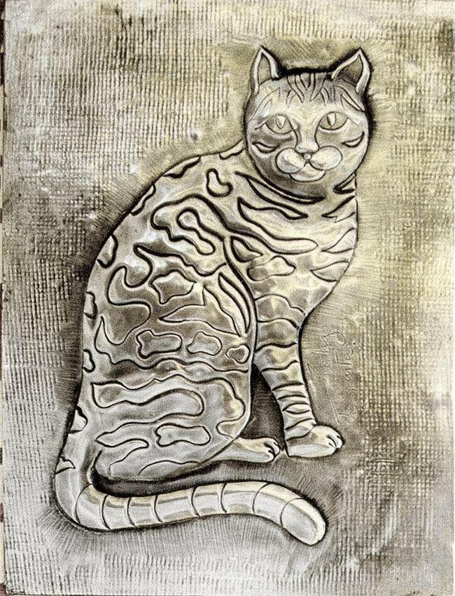 ArteyMetal: Placa decorativa. Gato 01 | repujado estaño | Pinterest ...