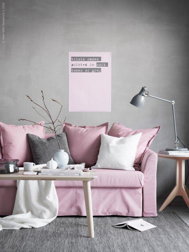 Oser un canap rose pink soft ikea couch ikea sofa magical bedroom - Canape rose ikea ...