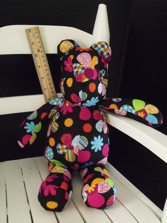 Flower Power Bear by RADBears on Etsy, $10.00