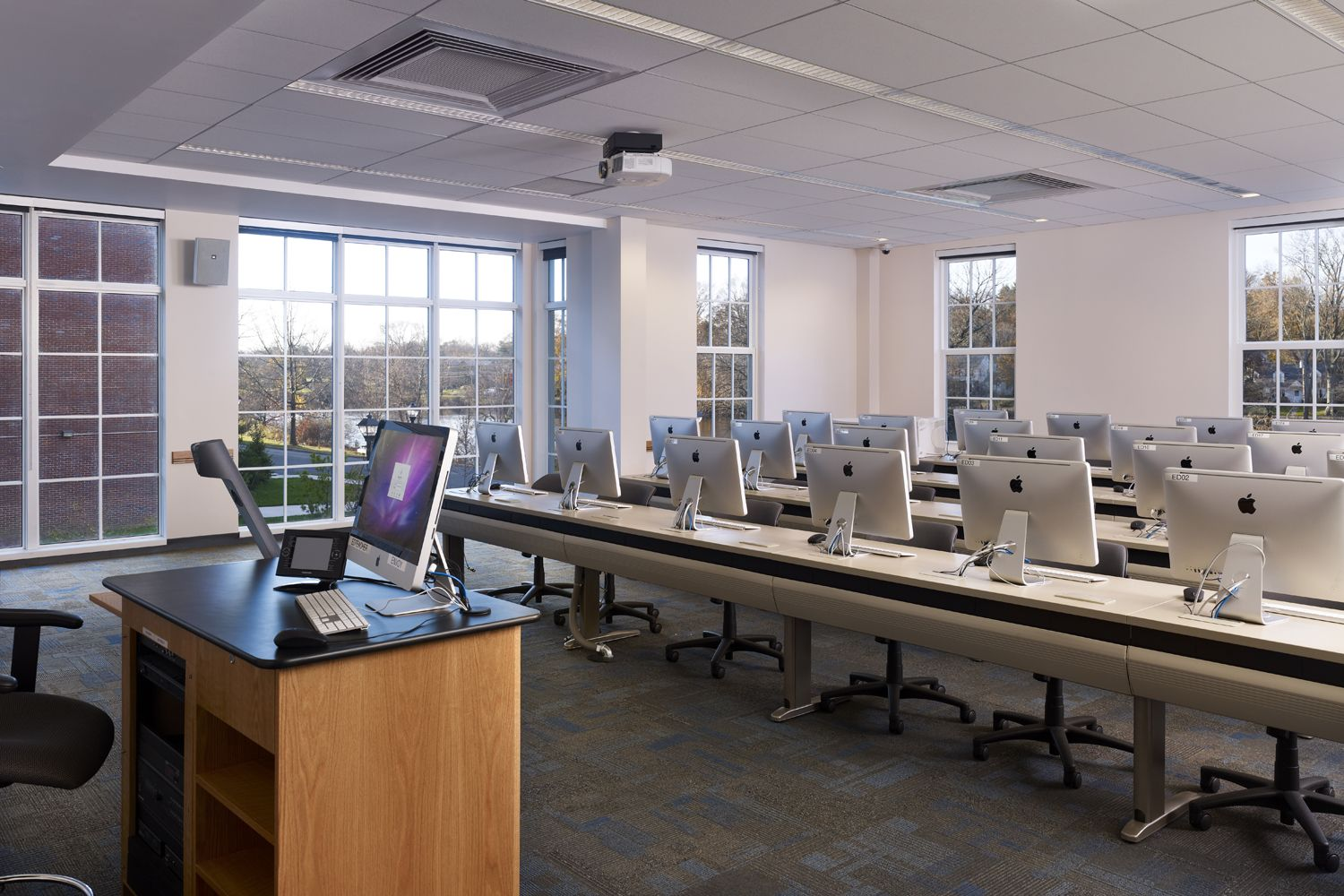 The College Of New Jersey School Of Business, Computer Lab, Architecture, Interior  Design