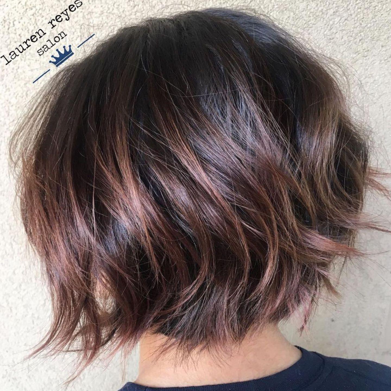Textured Chin Length Bob Haircut For Thick Hair Hair Styles Chin Length Hair