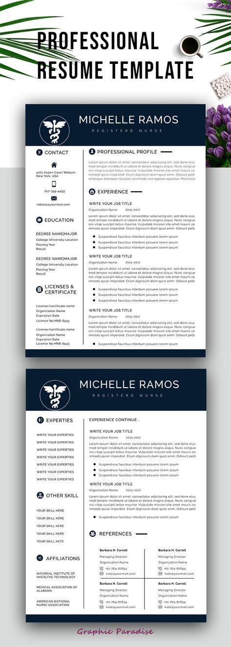Nurse/medical ms word resume template, resume template instant