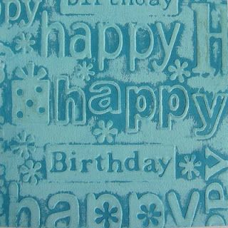 Technique: Cuttlebug plain glossy cardstock. Brayer on gesso & Sponge on tempting turquoise ink