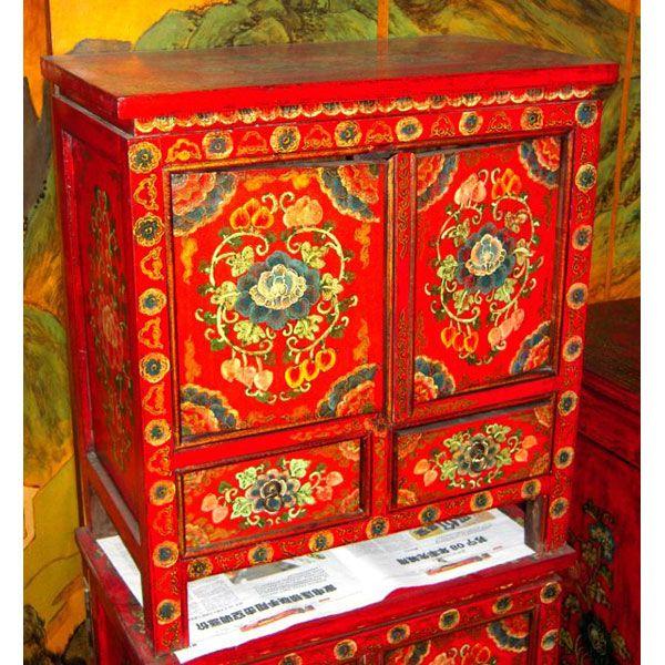 Buffet 2 Portes Et 2 Tiroirs Tibet Style Chine C0938 Dans Buffet De Meuble Chinois Meuble Chinois Decoration Indienne Mobilier De Salon